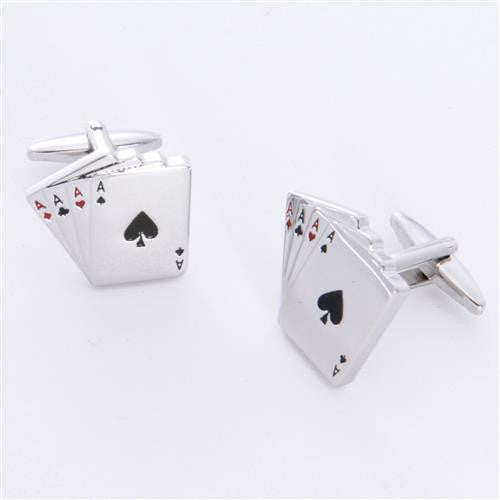 Dashing Cuff Links with Personalized Case  - ACES