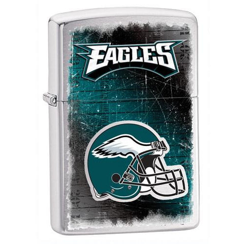 NFL Brushed Chrome Zippo Lighter - EAGLES