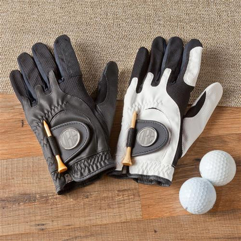 Leather Golf Glove with Magnetic Ball Marker