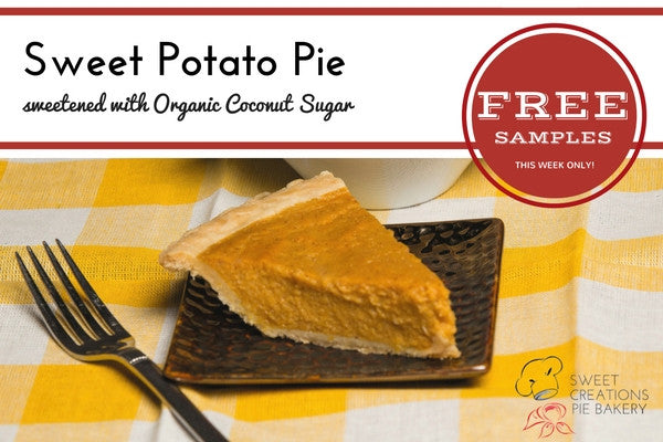 Limited Time Only: Sweet Potato Pie sweetened with Organic Coconut Sugar