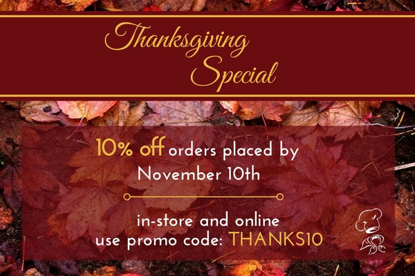 Check out this week's Sweet Deal: 10% Off Any Order Until Nov 10th