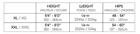 Pretty Polly Curves Size Chart
