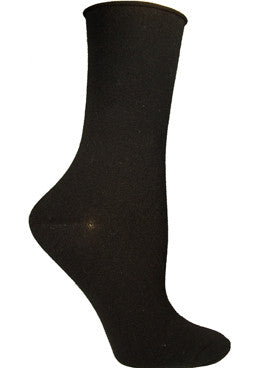 Everyone should have a Basic Black Crew Sock handy to wear and this one from Ozone is a Unique Roll Top band that stays up and comfortable all day long.