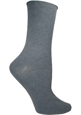 Ozone Basics Mid Zone Sock is a Crew Sock with a Non binding Cuff which makes this Heather Grey Sock comfortable to wear all day long.
