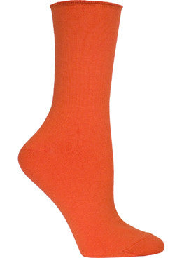 Ozone Basics Mid Zone Sock is a Crew Sock in Bright Orange with an Unique Non Binding Cuff that makes this sock comfortable to wear all day long.