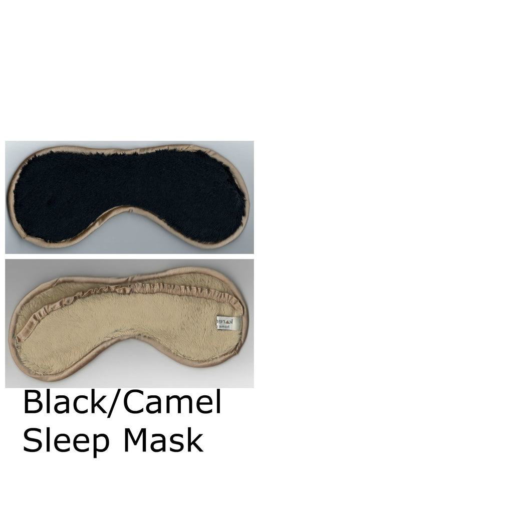 Black and Camel Sleep Mask Two Toned Colors