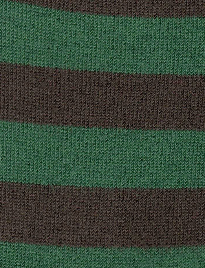 Swatch of Xtremely Soft Rugby Stripe Green and Brown