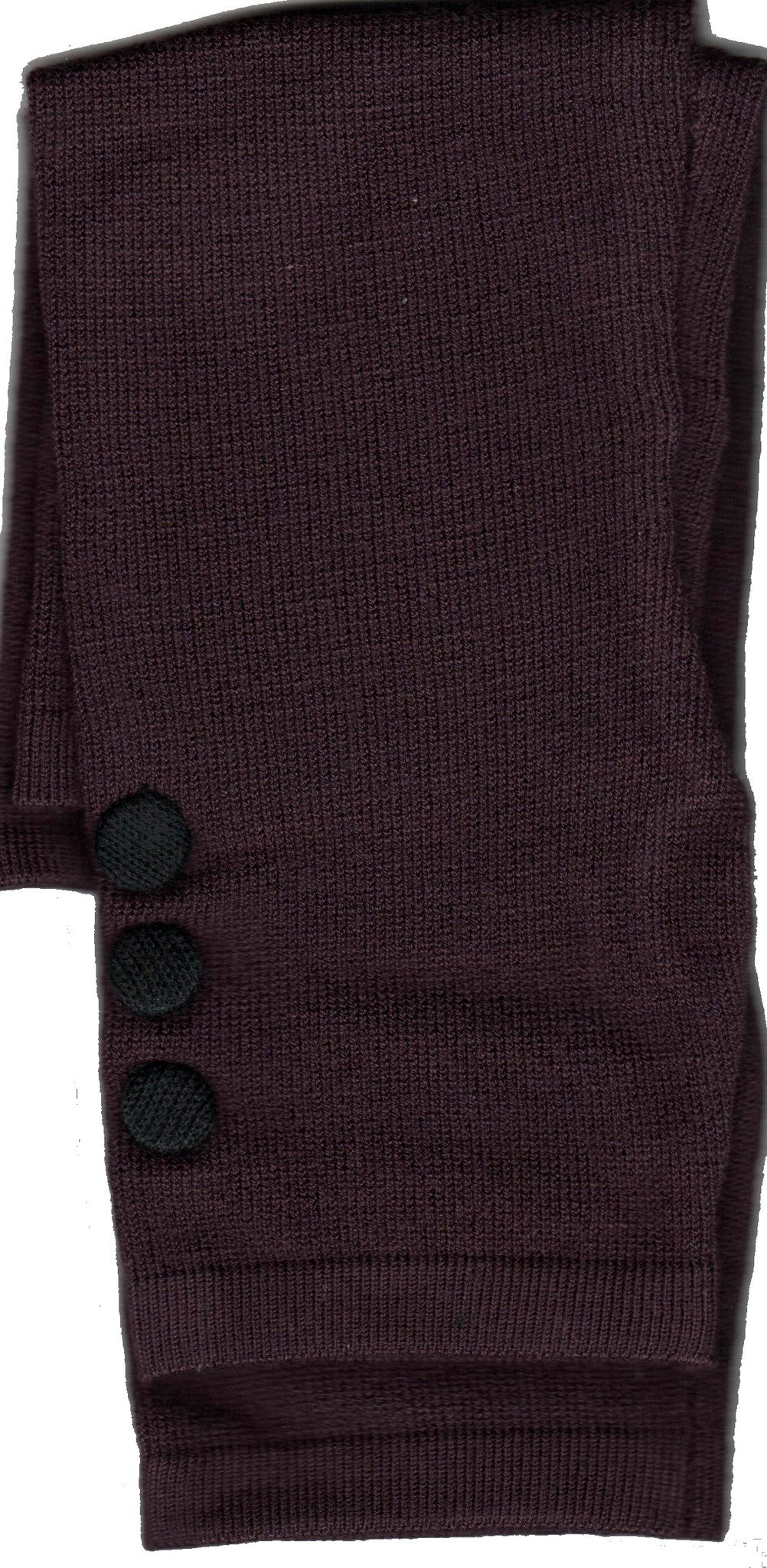Zazou Button Fingerless Glove with Black Button Embellishment