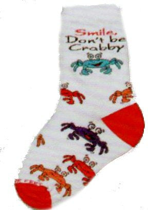FBF Cartoon Crab Childrens Sock