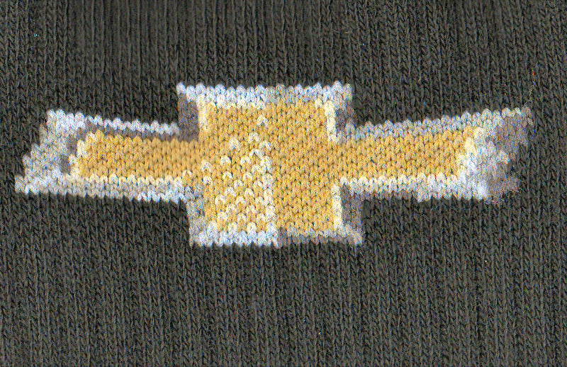 Close up of the Bow Tie Logo of Chevrolet.