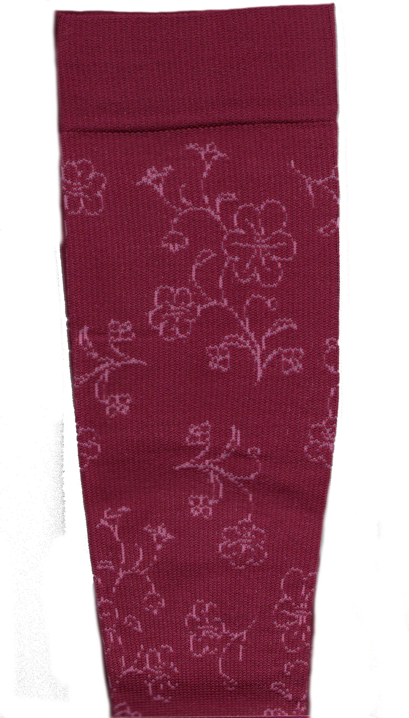 dr motion everyday womens compression 2 tone floral sock socks by
