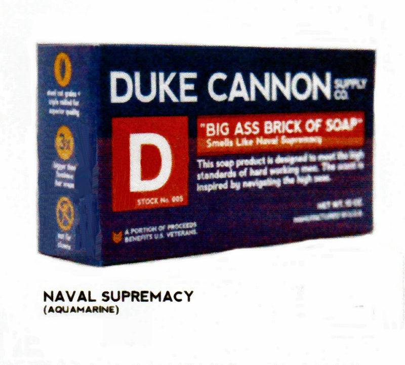 Duke Cannon Big Ass Brick of Soap Smells Like Naval Supremacy is 3X the size of a regular Soap Bar. A great Gift for Men.