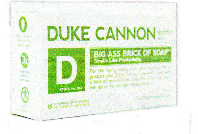 Picture perfect from Duke Cannon Big Ass Brick of Soap Smells like Productivity is a great Menthol smell by using Peppermint.