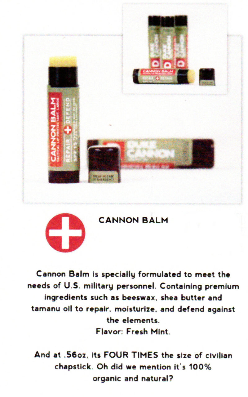 Duke Cannon Offensively Large Lip Balm comes in Fresh Mint Flavor and is 4X the size of Regular Chapstick.