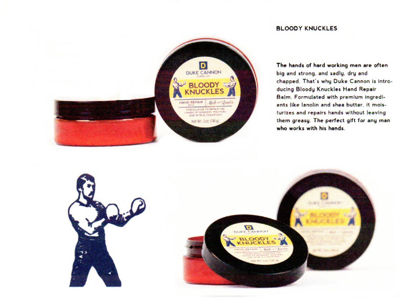 This is more of a sign letting you know that this Balm called Bloody Knuckles has restorative Lanolin to help soothe your hands.