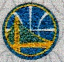 Golden State Warrior Logo on both outer sides of the sock.