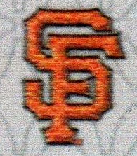 San Francisco Giants Logo in Orange surrounded by Black in SF.