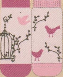 Artist Shinzi Katoh gives Baby Pink and Cherry Blossom Pink a fun Mismatched No Show with this Bird Cage.