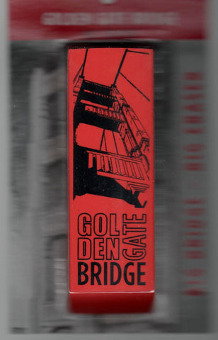 Golden Gate Bridge Eraser with picture of Bridge on International Orange Color