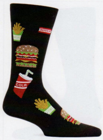 Hot Sox Mens Hamburger Fries and a Drink Sock