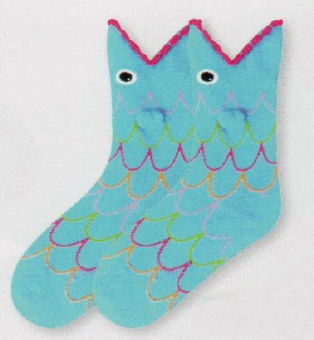 K Bell Kids Wide Mouth Fish Sock