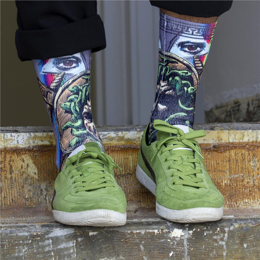 Kurb Medusa Socks on Model