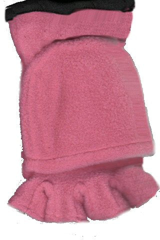 Pink Lauer Fingerless Poly Fleece Thinsulate Flip Cap Glove goes from Fingerless to Mitten