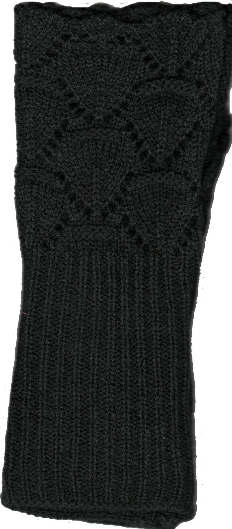 Lauer Glove Lace and Scallop Edge Design in Black