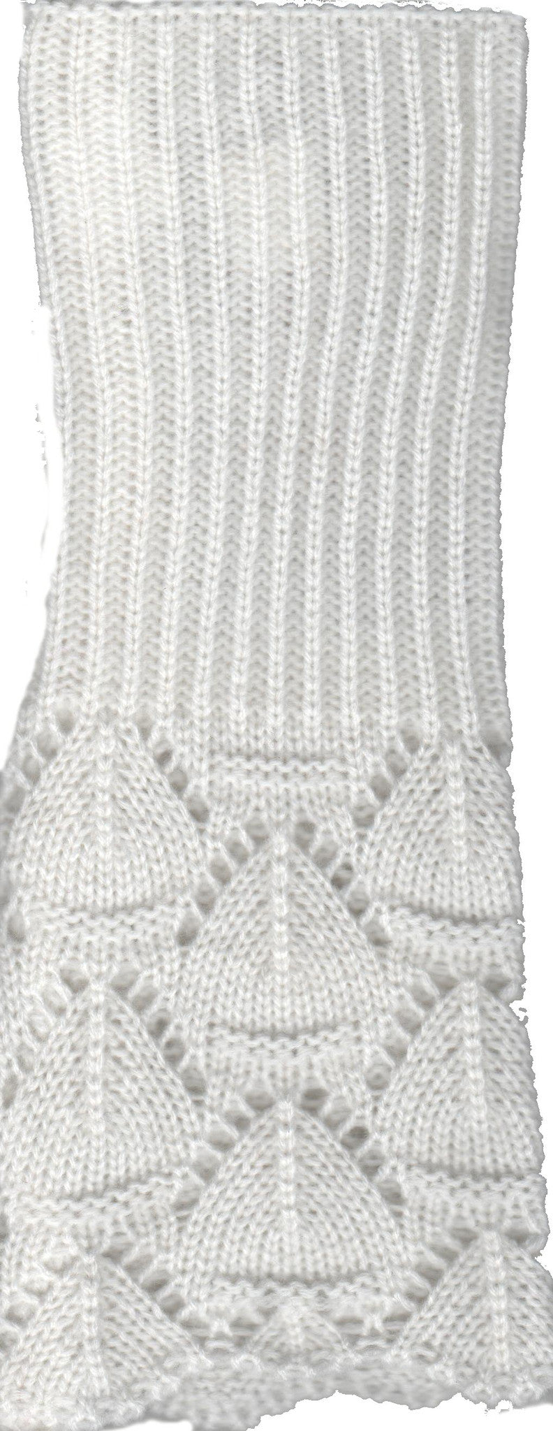 Scallop Edge Design with Lace weave by Lauer Gloves in Ivory
