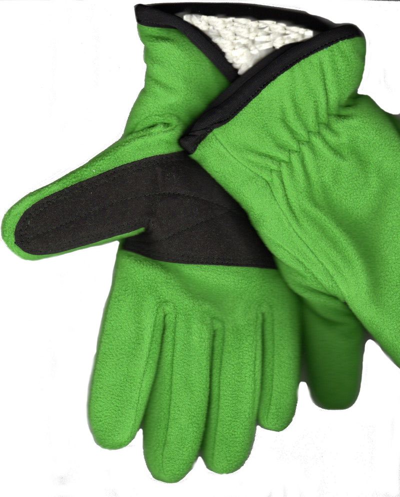 Green Lauer Sherpa Lined Stretch Microfleece Glove with Clarino Palm.