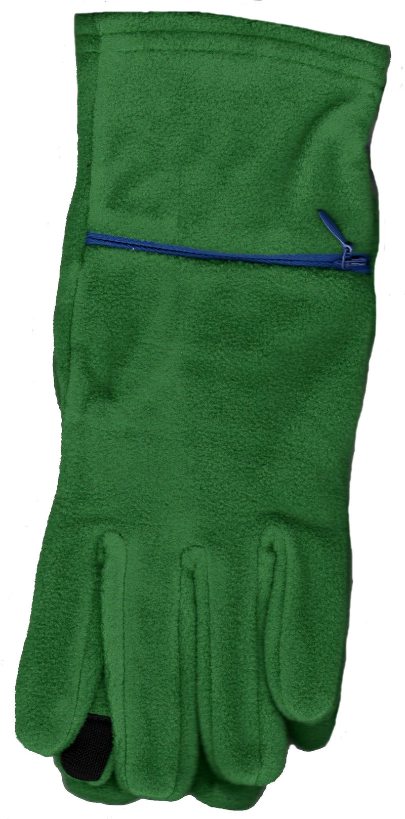 Lauer Touch Sensor Stretch Microfleece Glove Holly and Cobalt Zipper