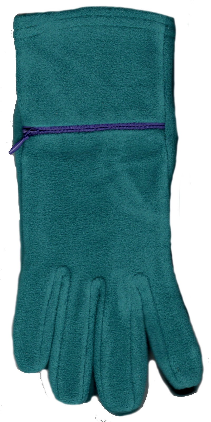 Lauer Touch Sensor Stretch Microfleece Glove Peacock and Iris Zipper