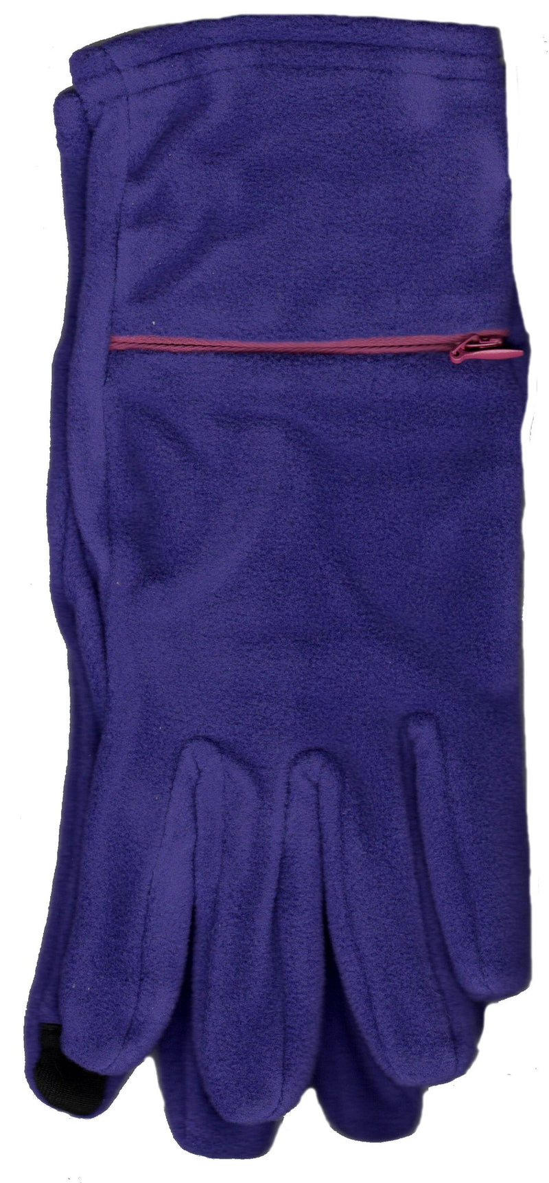 Lauer Touch Sensor Stretch Microfleece Glove Plum and Fuchsia Zipper