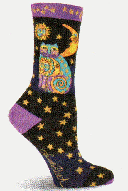826b43f3601 The · Laurel Burch Black Celestial Cat is a star with Black Purple  Turquoise and Gold.