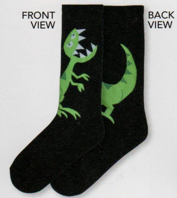 This is the Front and Back Views of the Adult Large T-Rex Sock that you can share love to T-Rex together.
