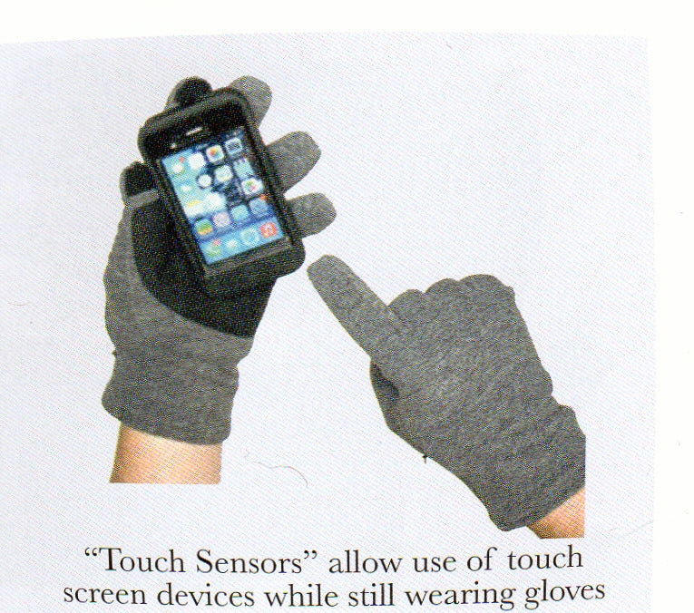 This picture shows the Mens Lauer Touch Sensor Glove with its great capabilities to use with technology.