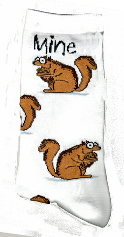 FBF Mine Mine is a Meme with Squirrels getting as many Acorns as they can find. Brown Squirrels and Acorns on a Bright White background.