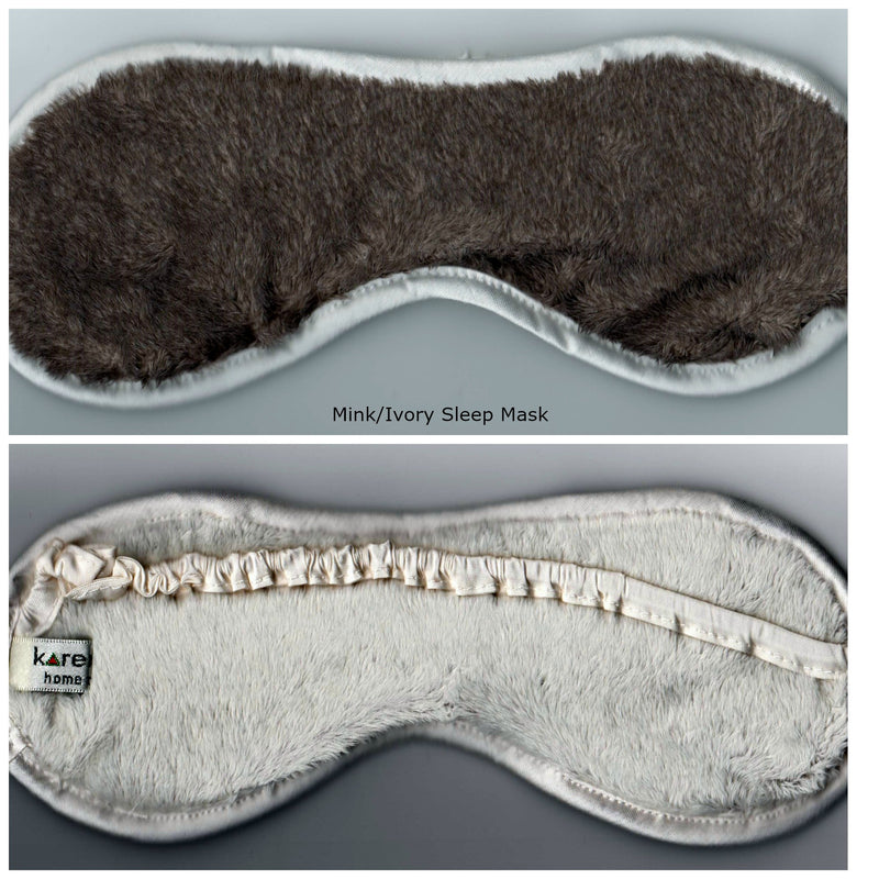 Mink and Ivory Two Toned Colored Sleep Mask