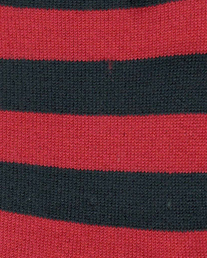 Swatch of Xtremely Soft Rugby Stripe Navy and Red