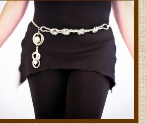 Liquid Sliver Belt is Convertible to size to fit many sizes of women.