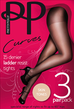 Pretty Polly Curves Tights Black and Sherry are made for Women with Curves. They are Run Resistant and look great on.