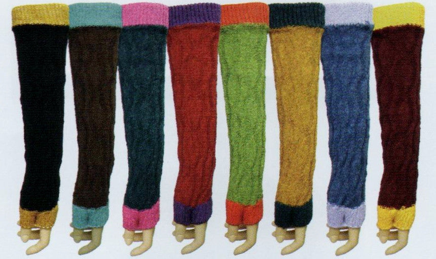 The complete collection of QT Feet Fingerless Gloves