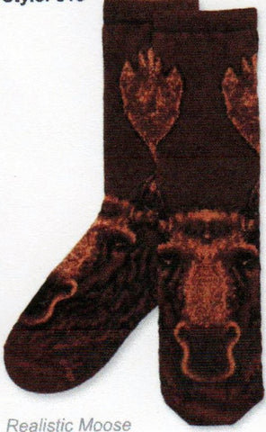 This version of the sock is off a catalog Picture Showing the Face and Antlers and the Side view.