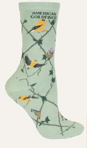 Wheel House Designs American Goldfinch Lime Sock