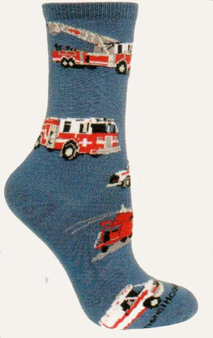 Wheel House Designs Emergency Vehicles Novelty Socks