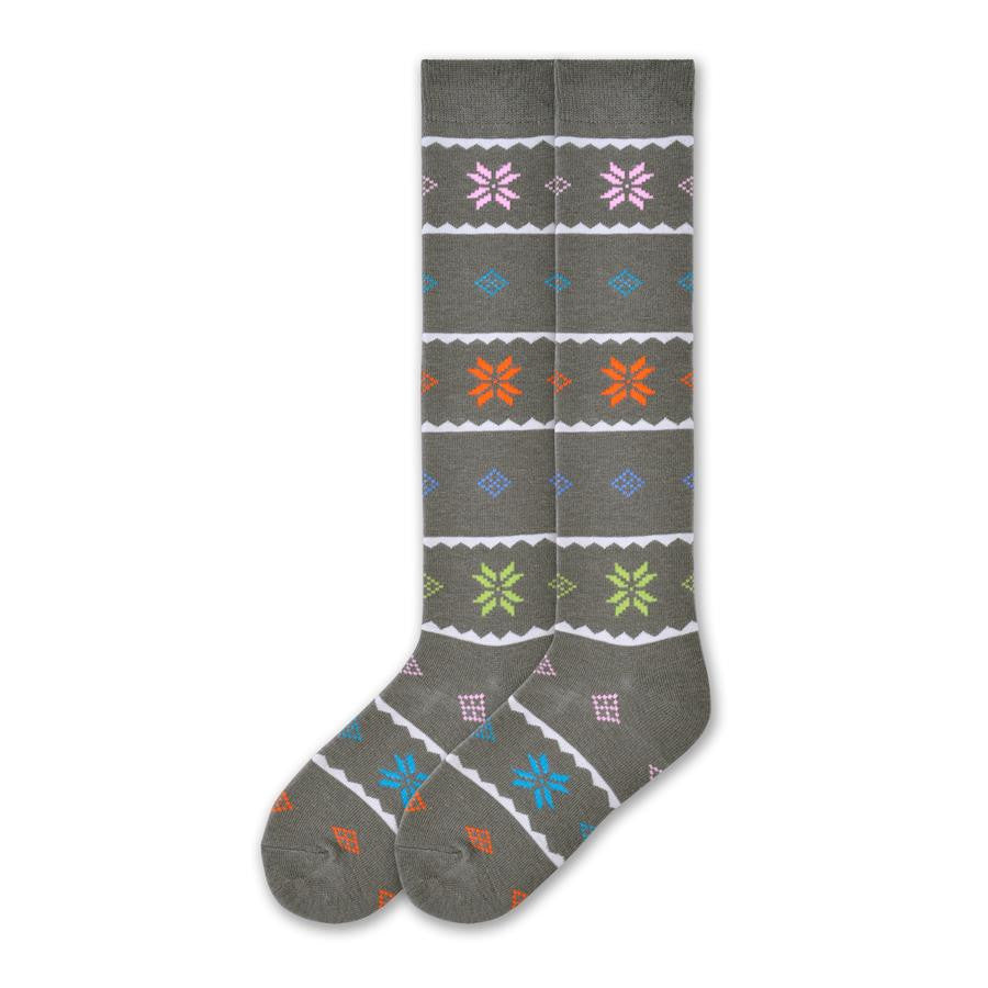 6ad8fcab14d K Bell Womens Nordic Snowflake Knee High is made with a Wool Blend. The  background