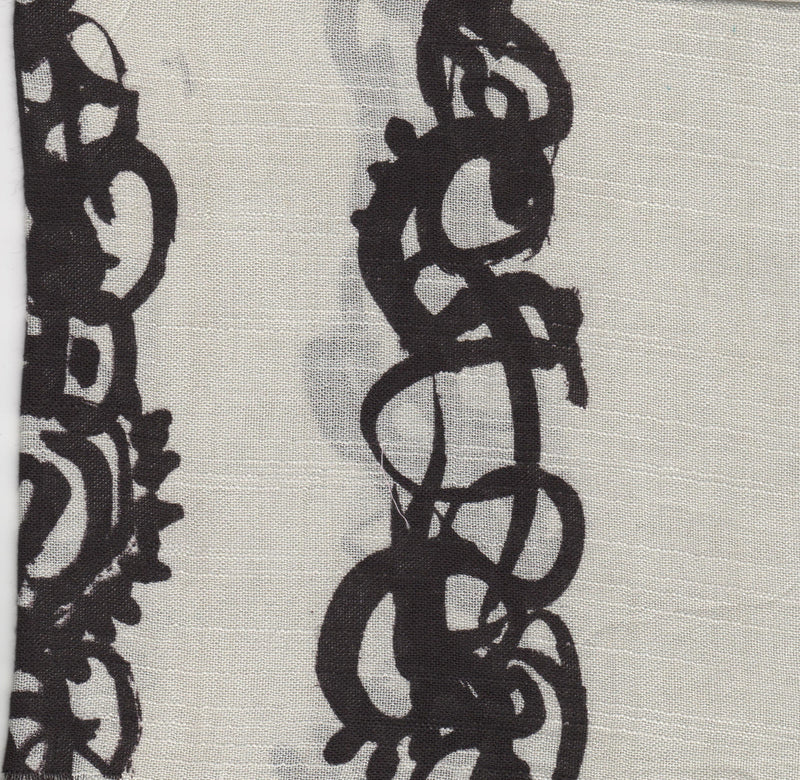 A close up Swatch of Zazou Calligraphy Scarf