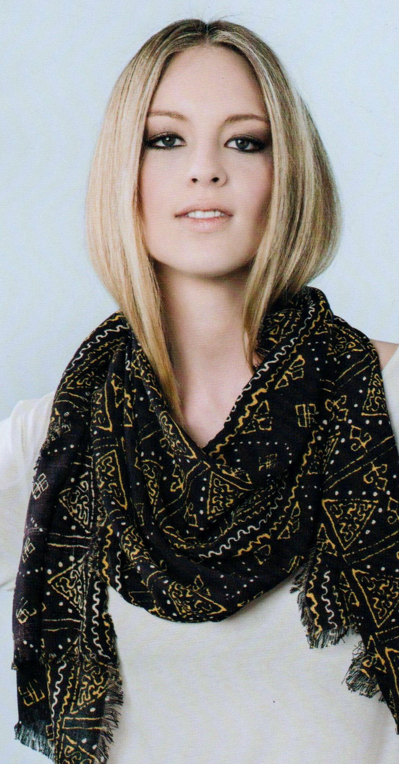 Zazou Casablanca Scarf in Black on Model