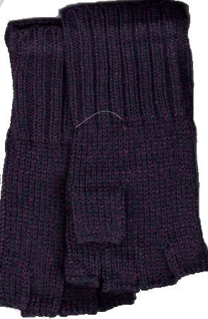 Zazou Working Girl Fingerless Gloves in Purple.