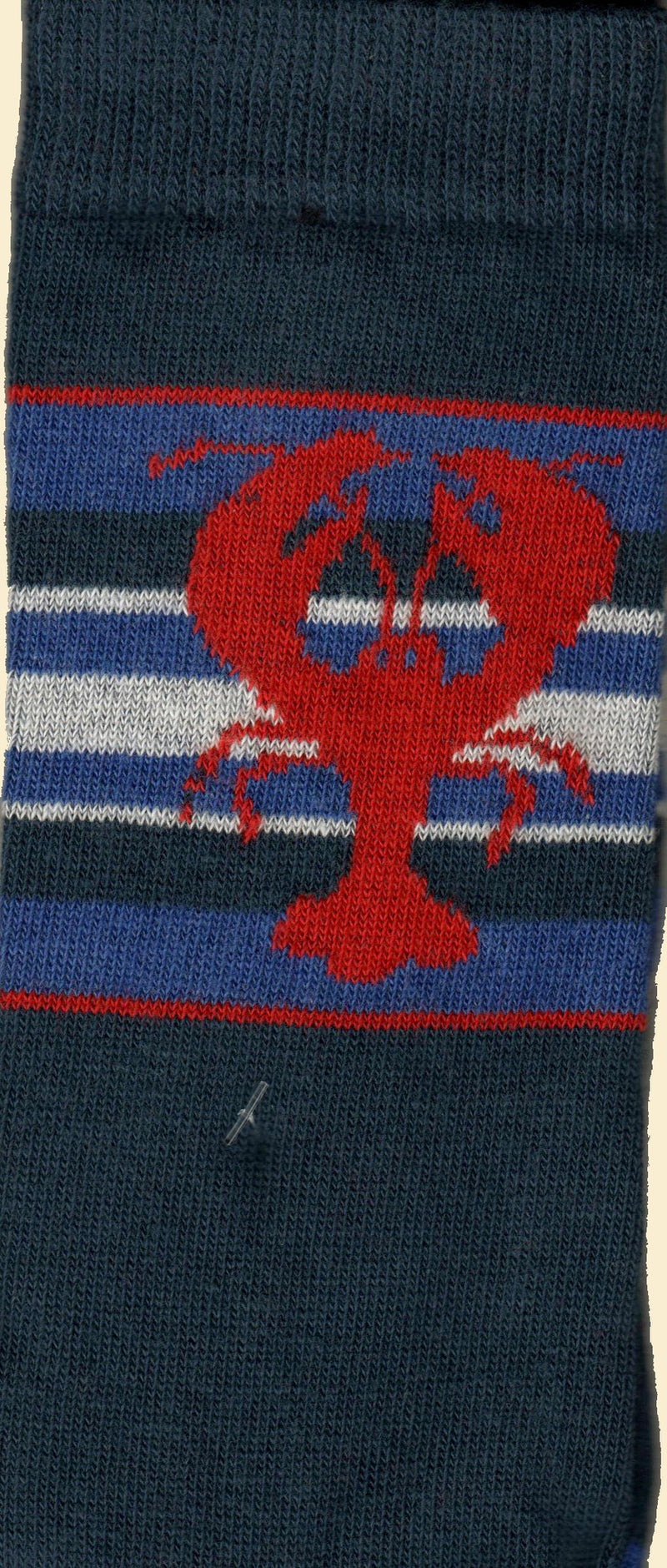 This is a Scan of the Lobster Sock showing the real white, blues and red